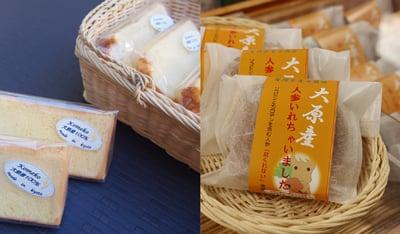地産地消の延長線上の活動として、オリジナル商品「シフォンケーキ」「どら焼き(三笠まんじゅう)」を展開 写真