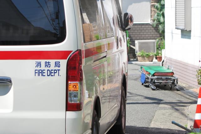 停車中の救急車